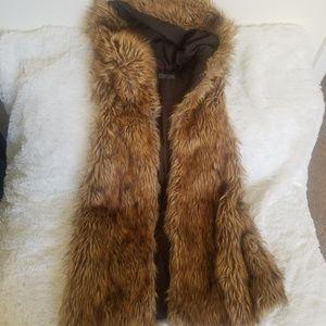 Zara hooded fur vest